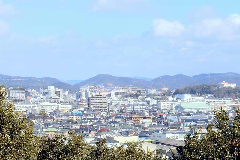 倉敷市内中心部の街並み